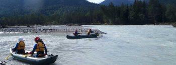 Header Teamtraining im Kanu