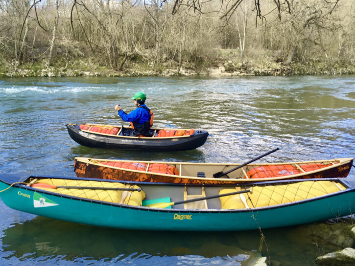 Open Canoe-kanu-solo-canadier-paddeln lernen